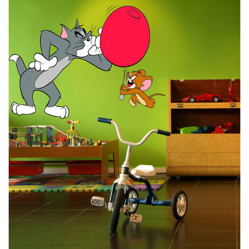 Tom & Jerry Full Color Decal, Full color sticker, colored Tom & Jerry Sticker Decal Size 22x30