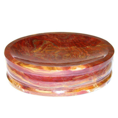 Nature Home Decor Mediterranean Collection Multi Brown Onyx Soap Dish