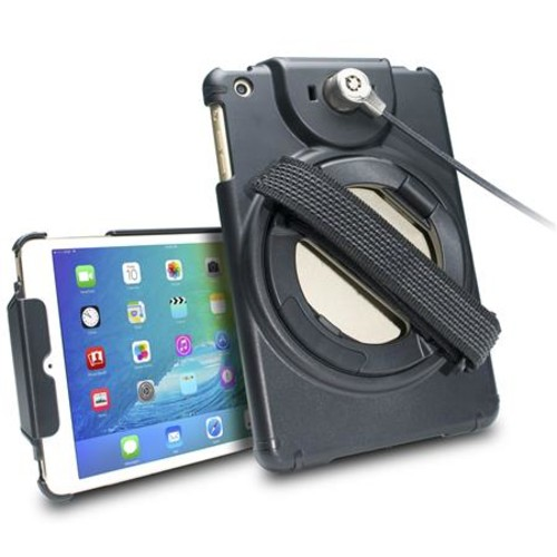 CTA Digital Anti-Theft Case with Built-In Grip Stand for iPad mini PAD-ACGM