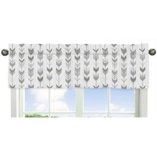 Sweet Jojo Designs Mod Arrow Print Window Valance in Grey