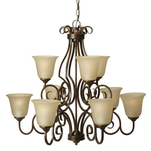 Craftmade 7131 Builders Two Tier 9 Light Linear Chandelier - 32 Inches Wide [option : peruvian]