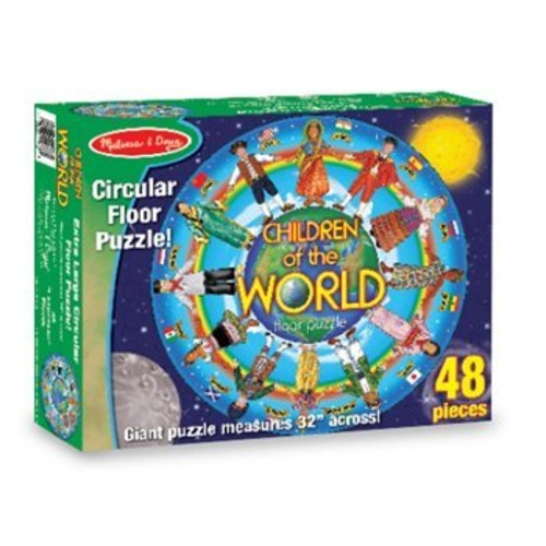 Melissa & Doug Children of the World Jumbo Jigsaw Floor Puzzle (48 pcs, 32 inches diameter)