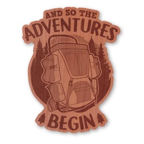 Adventure Begins Wood Sticker