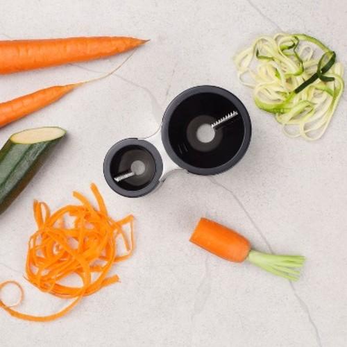 Microplane Dual Barrel Spiral Vegetable Slicer Ribbon Blades - Black