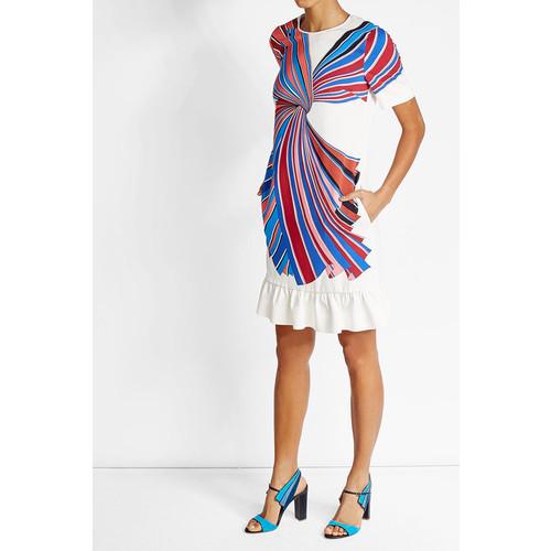 Printed Dress with Ruffled Hem