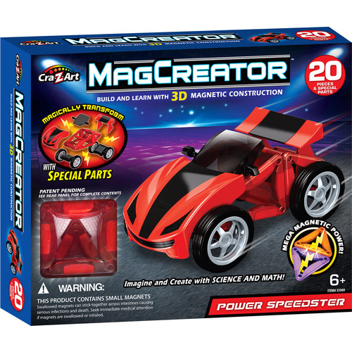 Cra-Z-Art MagCreator Magnetic Construction Building Set - Race Car