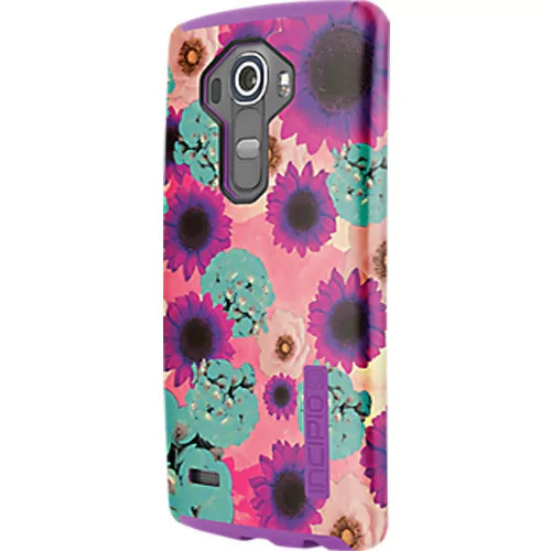 Incipio DualPro Shock absorbing Case for LG G4 - Flowers/Purple