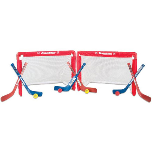 Franklin Sports NHL Mini Hockey Insta-Set2-Goal Combo
