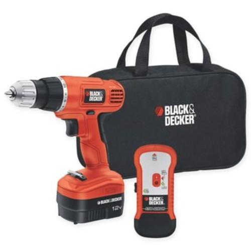Black & Decker 12-Volt 3.8-Inch Cordless Drill/Driver with Storage Bag and Stud Sensor