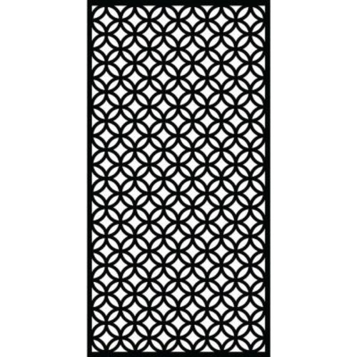 Matrix 0.3 in. x 71 in. x 2.95 ft. Halo Recycled Plastic Charcoal Decorative Screen (3-Piece per Bundle)