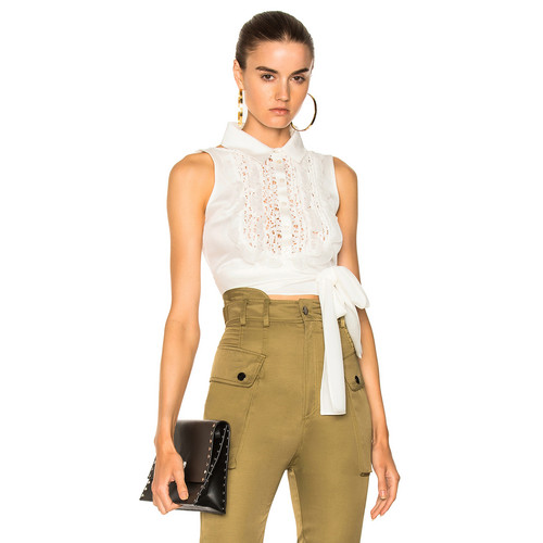 Marissa Webb Shila Top in Lace White Combo