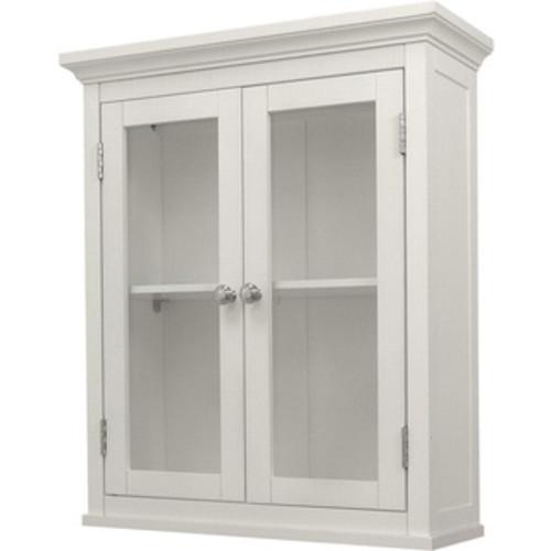 Fresca Walnut Bathroom Linen Side Cabinet with 3 Large Storage Areas
