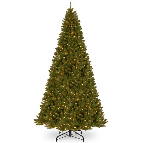 National Tree Company 12 ft. North Valley Spruce Tree with Clear Lights