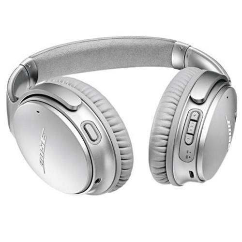 Bose QuietComfort 35 Wireless Headphones II with Microphone, Silver