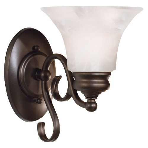 Kenroy Home 91391BBZ Wynwood 1-Light Sconce, Burnished Bronze [White]