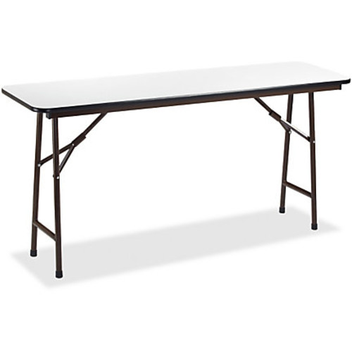 Lorell Gray Folding Banquet Table, 6'W, Gray
