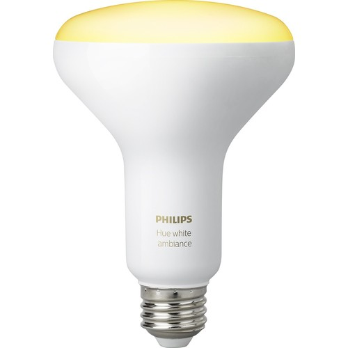 Philips - Hue White Ambiance Dimmable BR30 Wi-Fi Smart LED Floodlight Bulb (2-Pack) - Adjustable White