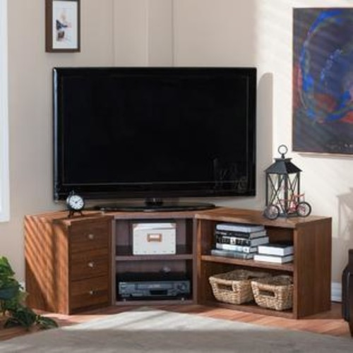 Baxton Studio Commodore Sonoma Oak Finishing Modern TV Stand