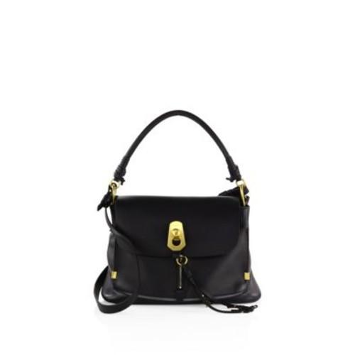 Medium Owen Leather & Suede Shoulder Bag