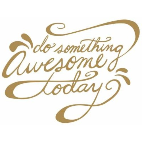 RoomMates 5 in. x 11.5 in. Do Something Awesome Quote 6-Piece Peel and Stick Wall Decal