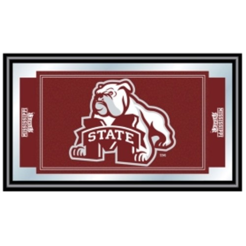 Trademark Games Mississippi State Bulldogs Framed Team Logo Mirror