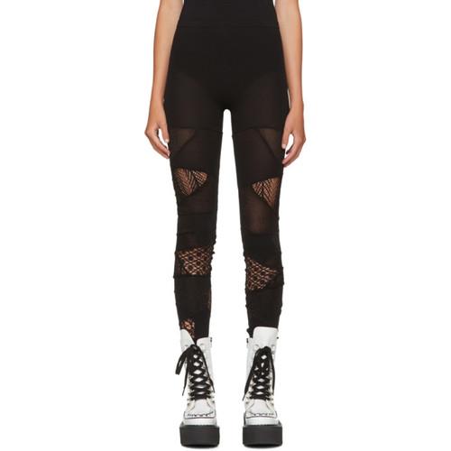 JUNYA WATANABE Black Multi Panel Jersey Leggings