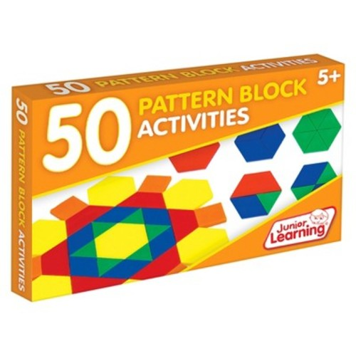 Junior Learning 50 Pattern Block Activities Learning Set