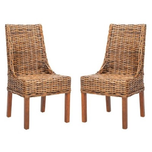 Dining Chairs Brown - Safavieh