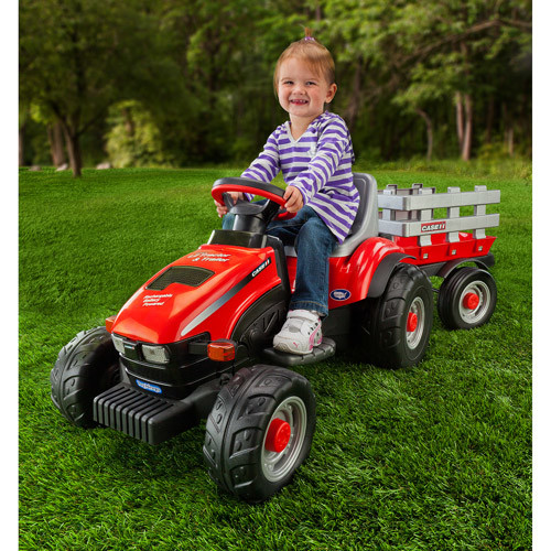 Peg Perego IGED1112 Case IH Lil Tractor and Trailer