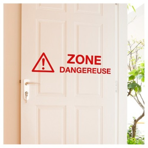 Zone Dangereuse Wall Decal - Red