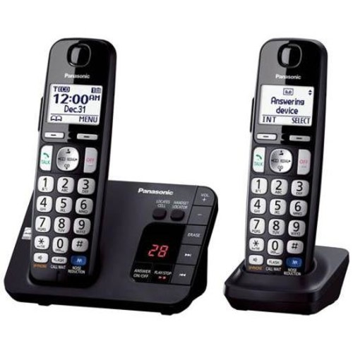 Refurbished Panasonic KX-TGE232B 2 Handset Cordless Phone