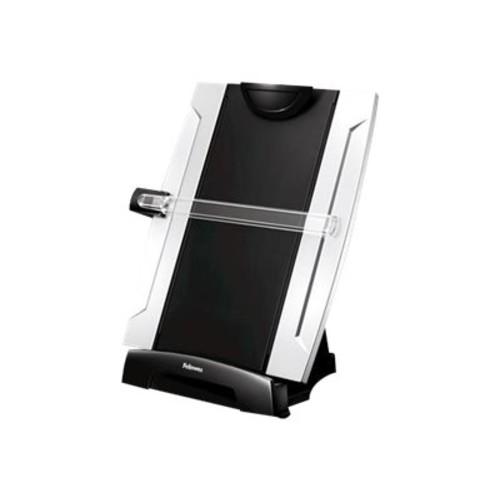 Fellowes Office Suites Desktop Copyholder, Plastic, 150 Sheet Capacity, Black/Silver per EA