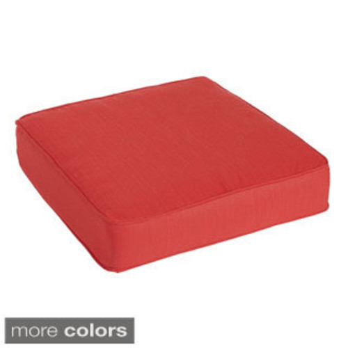 Pillow Perfect Outdoor/ Indoor Anchor Allover Arbor Navy Rounded Corners Seat Cushion (Set of 2)