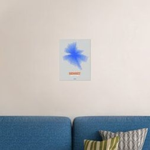 Naxart 'Bucharest Radiant Map 2' Graphic Art Print on Canvas; 16'' H x 12'' W x 1.5'' D