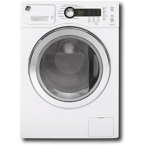 GE - 2.2 Cu. Ft. High-Efficiency Compact Front-Loading Washer - White