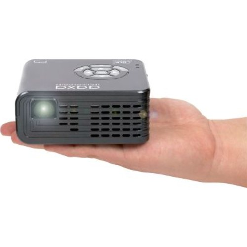 AAXA P5 WXGA (1280x800) HD LED DLP Pico Projector, Business, Gray