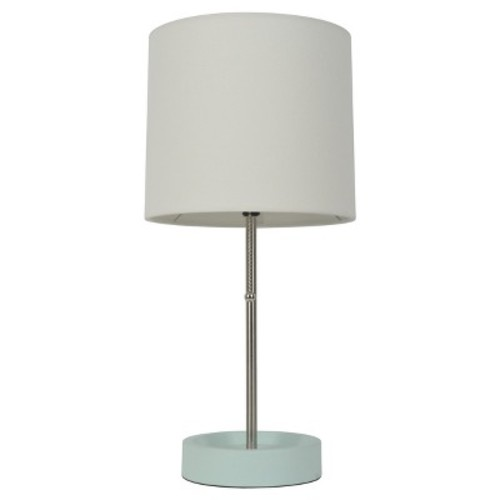 Stick Table Lamp with Single Outlet Painted Mint Base - Room Essentials
