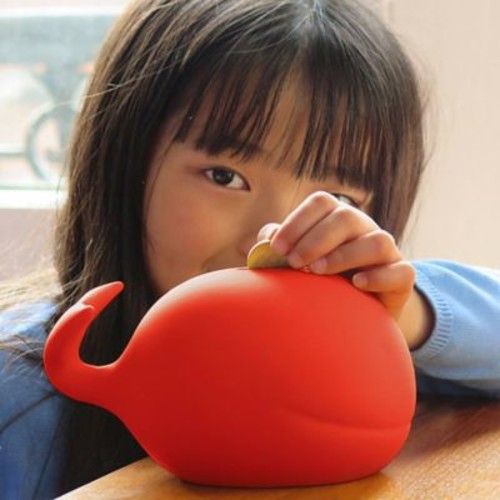 Maia Ming Designs Whale Piggy Bank; Red
