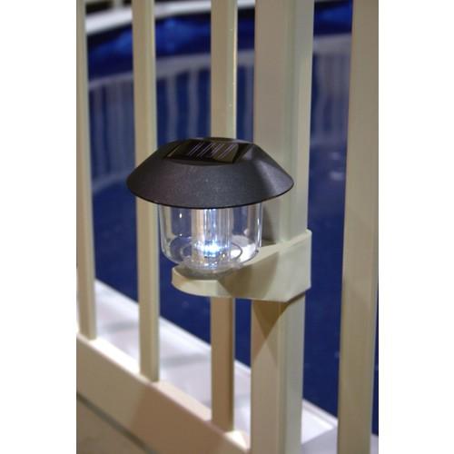 Vinyl works Solar Light Kit for Above Ground Pool Fence - 4 pack