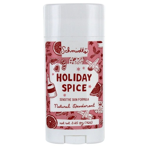 Natural Deodorant Stick Sensitive Skin Formula Holiday Spice - 3.25 oz.