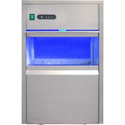 SPT 44 lb. Freestanding Automatic Ice Maker in Stainless Steel