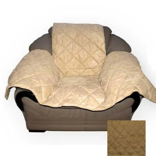K&H Pet Products Furniture Cover - Protects your furniture from pet hair [Mocha, Standard Packaging, Chair]