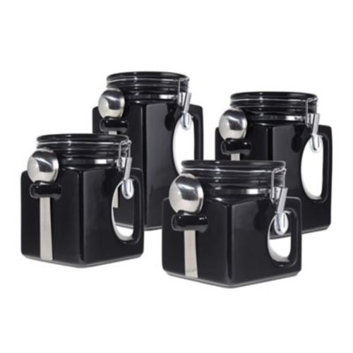 Oggi EZ Grip Handle 4-Piece Kitchen Canister Set