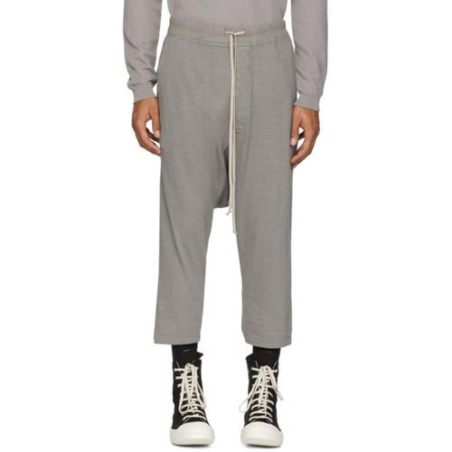Grey Drawstring Cropped Lounge Pants