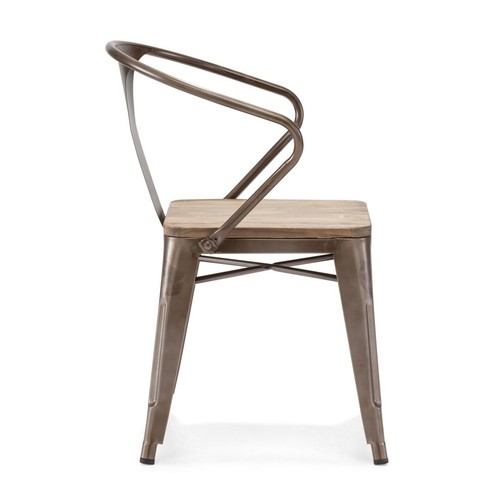 Helix Chair Rustic Wood Set of 2 by Zuo Modern