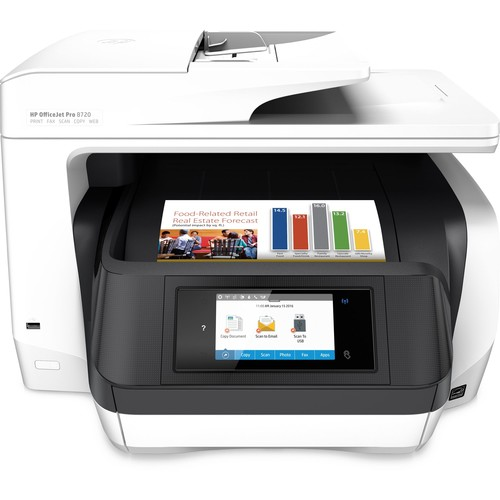 HP OfficeJet Pro 8720 All-in-One Printer with 1Mo. Instant Ink