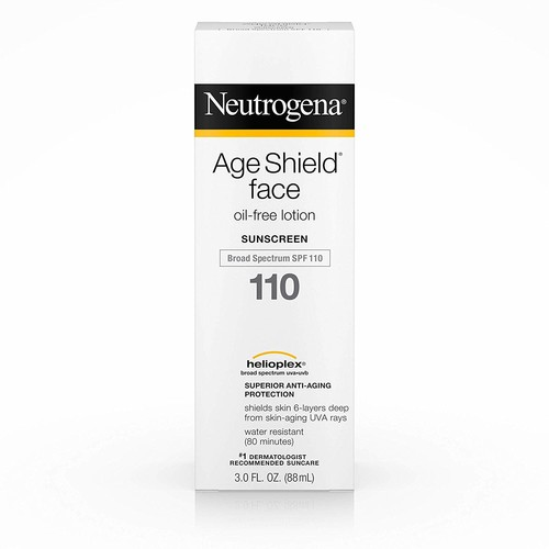 Neutrogena Age Shield Face Oil-Free Lotion Sunscreen Broad Spectrum Spf 110, 3 Fl. Oz. [3 Ounce, SPF 110]