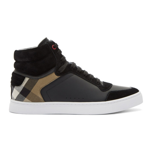 BURBERRY Black Reeth High-Top Sneakers