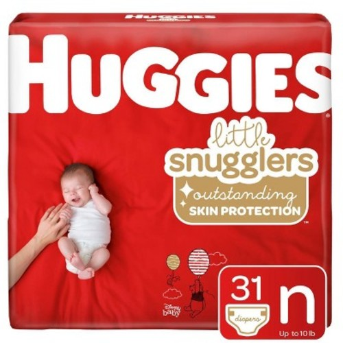 Huggies Little Snugglers 32-Count Newborn Jumbo Pack Diapers