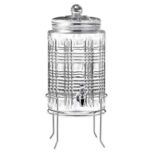 Style Setter Portland Beverage Dispenser with Silver Stand